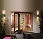 XL Joinery External Pre-Finished Oak La Porte Vista 8' Folding Doors 2384 x 2098mm x 44mm
